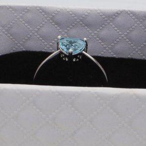 Jewelry - Sterling Silver Genuine Blue Topaz Ring